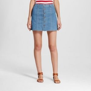 Mossimo Supply Co Denim Button Front Skirt